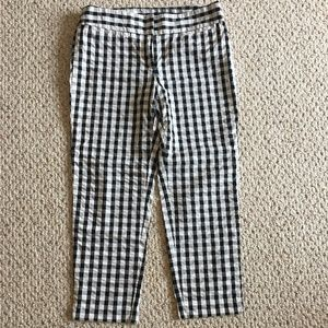 Loft Original Ankle Gingham Pants Size 6